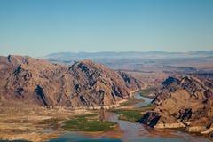 Jeziorny dwójniaka widok z lotu ptaka zdjęcia royalty free