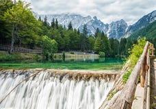 Jeziorny Fusine w Włoskich Alps Fotografia Royalty Free