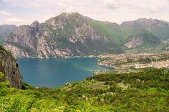 Jeziorny Garda nago Obrazy Stock