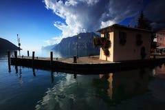Jeziorny Garda w południowym Titol obrazy stock