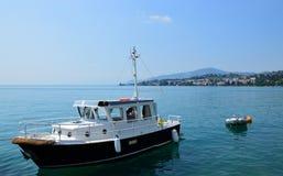 Jeziorny Genewa, Montreux, Szwajcaria Obraz Royalty Free
