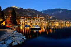 Jeziorny Genewa przy półmrokiem Obrazy Royalty Free