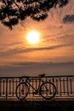 Jeziorny Genewa przy zmierzchem Zdjęcia Stock