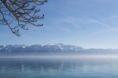 Jeziorny Genewa w wiośnie Zdjęcia Royalty Free