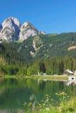 Jeziorny Gosausee, Gosausee, Alps, Austria zdjęcia stock