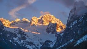 Jeziorny Gosausee, halny Dachstein, Austria, Górny Austria zdjęcie stock