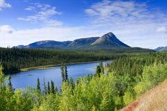 jeziorny halny dukt Yukon Zdjęcia Stock