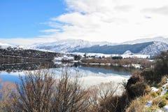 Jeziorny Hayes z śnieżnymi halnymi odbiciami Fotografia Stock