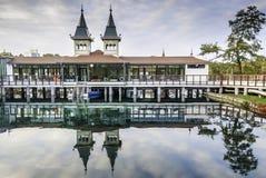 Jeziorny Heviz w Węgry blisko Balaton jeziora Fotografia Royalty Free