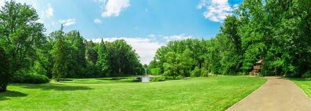 Jeziorny i boczny spacer w wiosna parku Obrazy Stock
