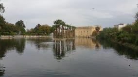 Jeziorny i piękny park w fes miasta, Morocco zdjęcie royalty free