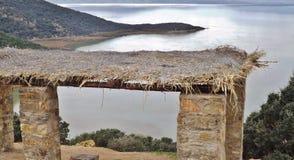 Jeziorny Ichkeul park narodowy w Północnym Tunezja, Afryka Obrazy Stock