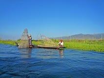 Jeziorny Inle Myanmar Zdjęcia Royalty Free