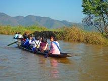 Jeziorny Inle Myanmar Fotografia Royalty Free