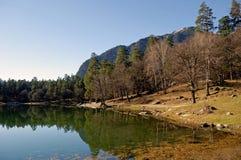 Jeziorny Kara-Kel Teberda, Karachay-Cherkessia, Rosja Obraz Stock