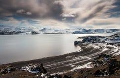 Jeziorny Kleifarvatn, Iceland zdjęcie royalty free