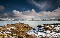 Jeziorny Kleifarvatn, Iceland Obraz Royalty Free