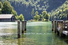 Jeziorny Koenigssee Fotografia Royalty Free