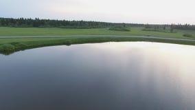 Jeziorny kręcenie w bagno zbiory wideo