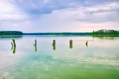 Jeziorny kurortu krajobraz Zdjęcia Stock