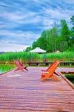 Jeziorny kurortu krajobraz Zdjęcie Stock