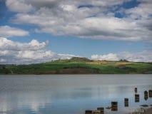 Jeziorny lago Di Chiusi w Tuscany Zdjęcie Royalty Free