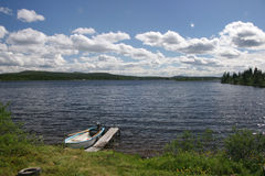 jeziorny lato Zdjęcia Stock