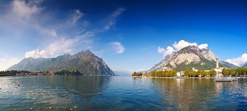 Jeziorny Lecco, Lombardy, Włochy zdjęcie royalty free