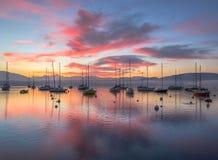 Jeziorny Lemański wschód słońca Obrazy Royalty Free