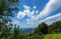 Jeziorny Leman 3 i piękny niebo zdjęcie stock