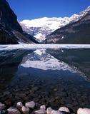 Jeziorny Louise, Alberta, Kanada. Obrazy Royalty Free