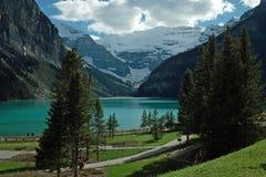 Jeziorny Louise, Banff park narodowy, Alberta, Kanada. Obrazy Royalty Free