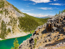 Jeziorny Louise - podwyżki, Kanadyjskie Skaliste góry Fotografia Royalty Free