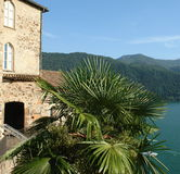 jeziorny Lugano Obrazy Royalty Free