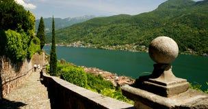 jeziorny Lugano Fotografia Royalty Free