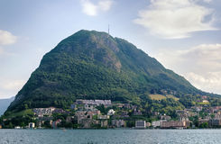 jeziorny Lugano Switzerland Fotografia Royalty Free