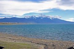 Jeziorny Manasarovar Na Tibeten plateau Fotografia Royalty Free