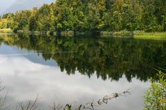 Jeziorny Matheson, Nowa Zelandia Fotografia Stock