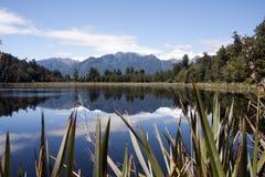 Jeziorny Matheson, Południowa wyspa, Nowa Zelandia Zdjęcie Stock