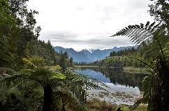 Jeziorny Matheson w Nowa Zelandia zdjęcia stock