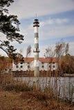 Jeziorny Mattamuskeet pompuje stację w łabędź ćwiartce zdjęcie royalty free