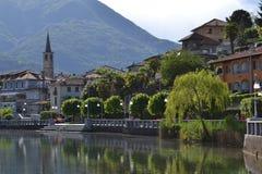 Jeziorny Mergozzo (Włochy) zdjęcie royalty free