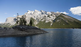 jeziorny minnewanka obrazy stock