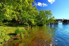 Jeziorny Minocqua Wisconsin krajobraz obraz royalty free