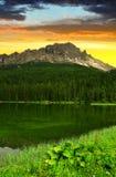 Jeziorny Misurina Zdjęcie Stock