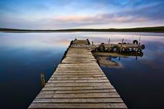 jeziorny molo obrazy stock