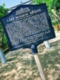 Jeziorny Monroe most fotografia royalty free