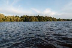 Jeziorny Muskoka podczas zmierzchu Obraz Stock