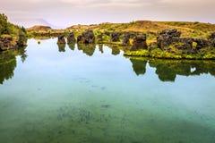 Jeziorny Myvatn Fotografia Royalty Free