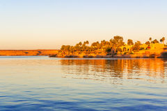 jeziorny Nasser w Abu Simbel Obrazy Stock